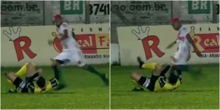 Brazilian footballer charged with attempted murder after kicking referee in head