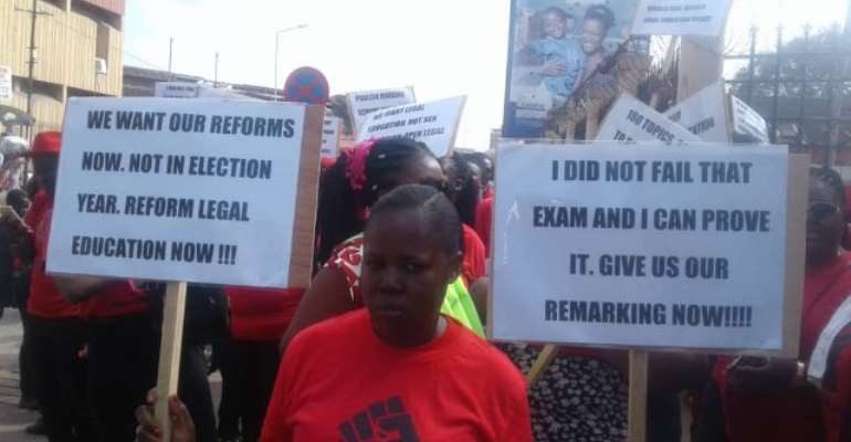 Law School Demo: Police Release 13 Persons