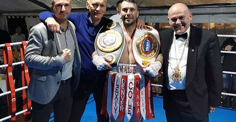 McAllister Beats Djarbeng Into Submission To Become Six Time, Five Division World Champion