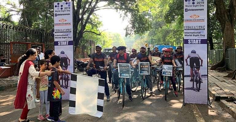 Sankara Eye Hospital Organizes Pedalathon To Create Awareness On Eye Donation On International World Sight Day