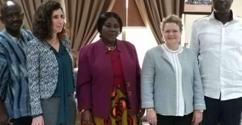 From left Chief Director Ms Ayelet Lenin-Karp, Cecilia Dapaah, Ambassador Shani-Cooper and Patrick Buamah