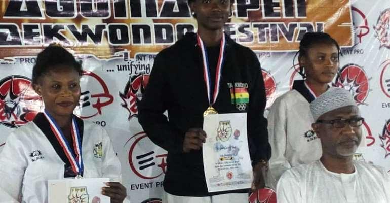 Eunice O. Adedapo Wins Gold For Ghana At Agoma Open Taekwondo Championships In Nigeria