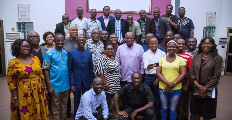 Mahama, NDC Leaders Meet UTAG Executives In Kumasi