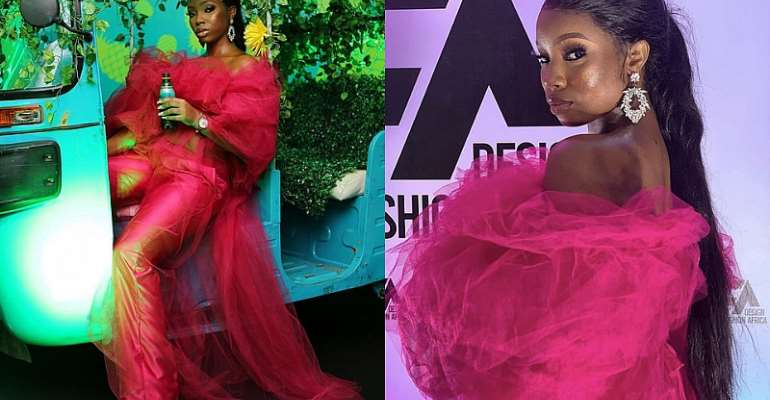 BamBam's Look To Design Fashion Africa Has Us In Fuschia Heaven