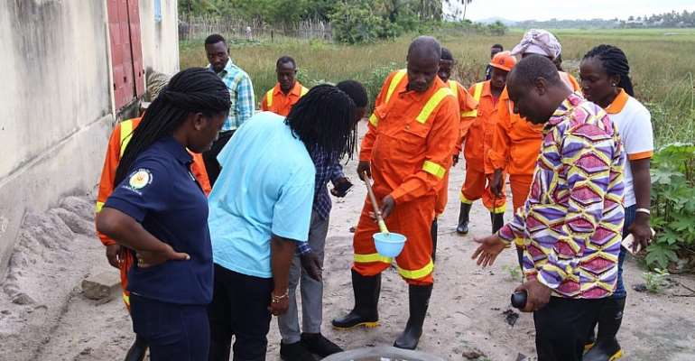 Malaria Control Programme Manager Inspects Mapped Mosquito Breeding Sites
