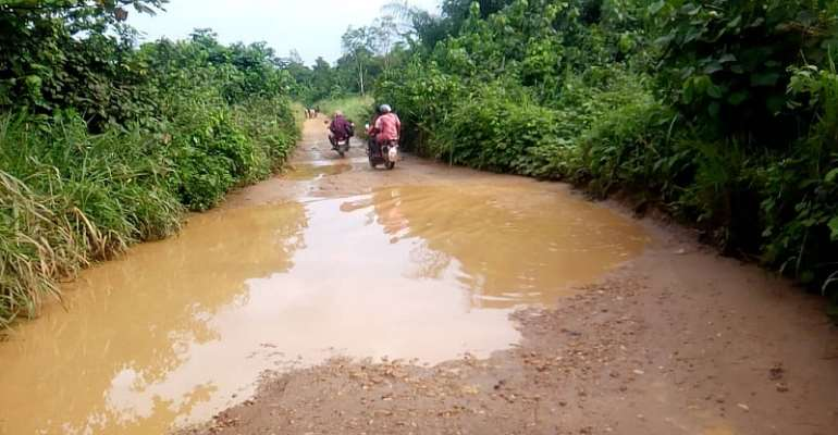 Nankese Abisim Residents Angry Over Bad Roads