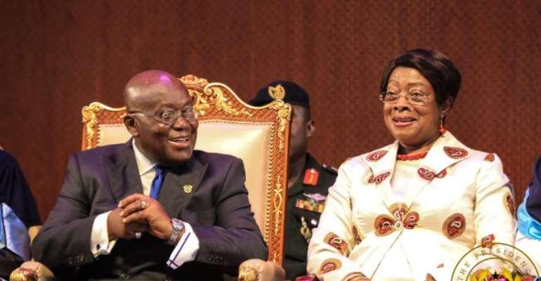 President Nana Akufo-Addo with Chief Justice Sophia Akuffo