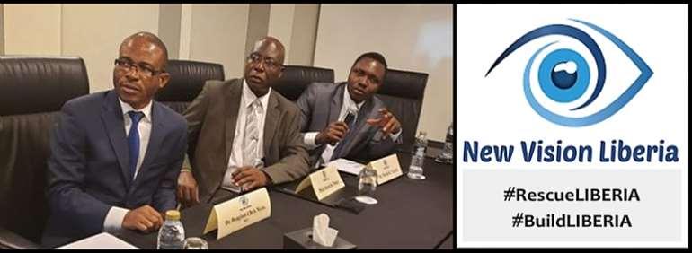 (L-R) Dr. Dougbeh Chris Nyan, M.D.,  Prof. Alaric K. Tokpa and Martin K. N. Kollie