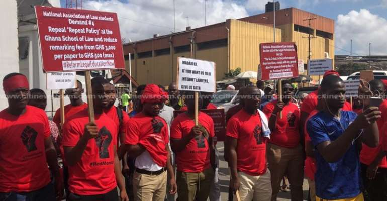 GBA calls for calm among protesting law students