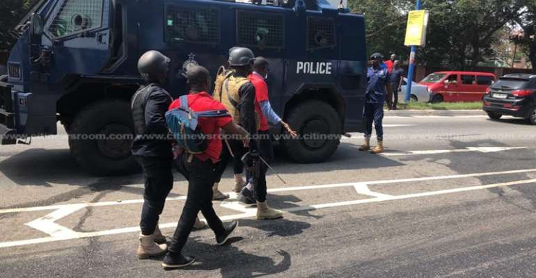 Police justify use of force against protesting law students