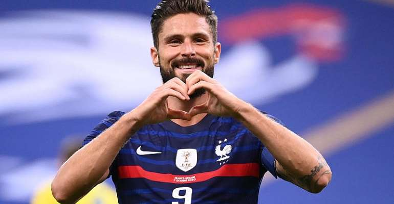 Giroud becomes France's second highest goalscorer during 7-1 romp past Ukraine