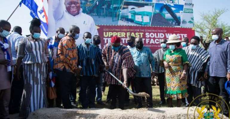 Akufo-Addo Cuts Sod For €15 million Upper East Solid Waste Treatment Plant