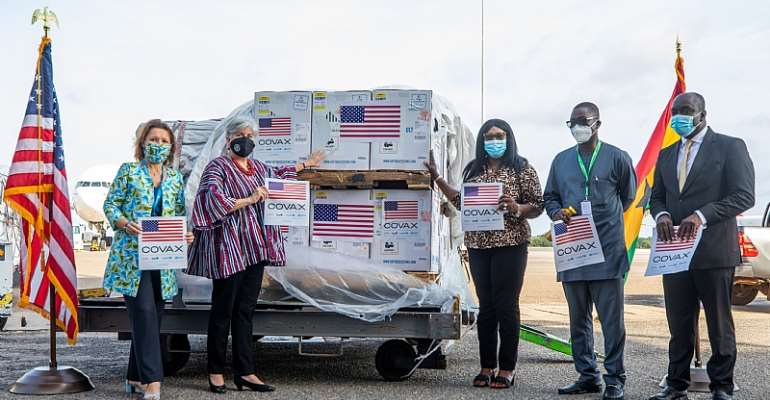 Pfizer Vaccine delivery US Embassy Ghana