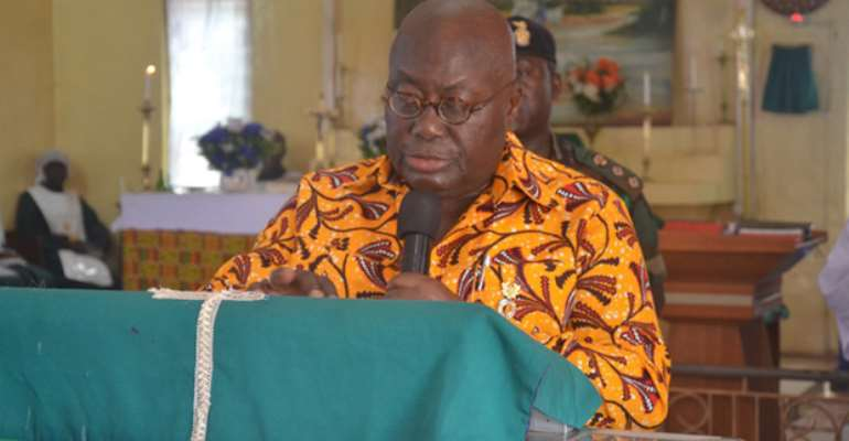 President Akufo-Addo at the Anglican Church in Tamale