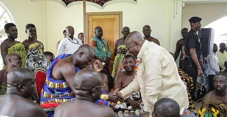 Remain Focused – Otumfuo Tells Akufo-Addo