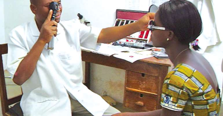 Gomoa Central: Over 800 People Benefit From Free Eye Screening