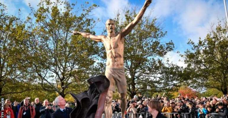 Zlatan Ibrahimovic Statue Unveiled In Sweden