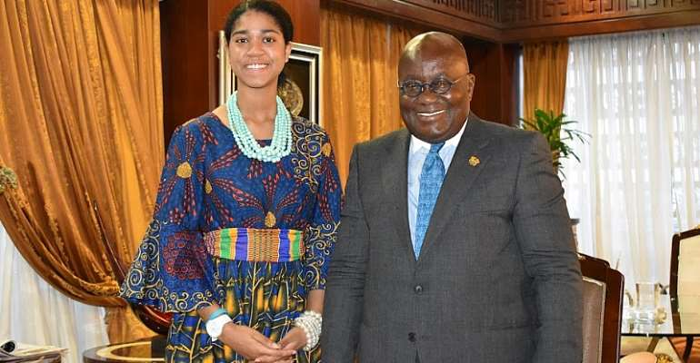 Zuriel Oduwole welcomed To Ghana by President Akuffo Addo