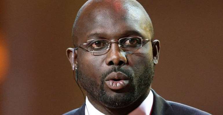 Liberia President George Weah Wants African Players To Aspire For Ballon d'Or