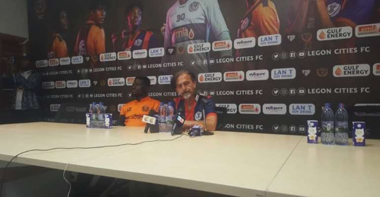 GHPL: Goran Barjaktarevic Vows To Improve Legon Cities FC