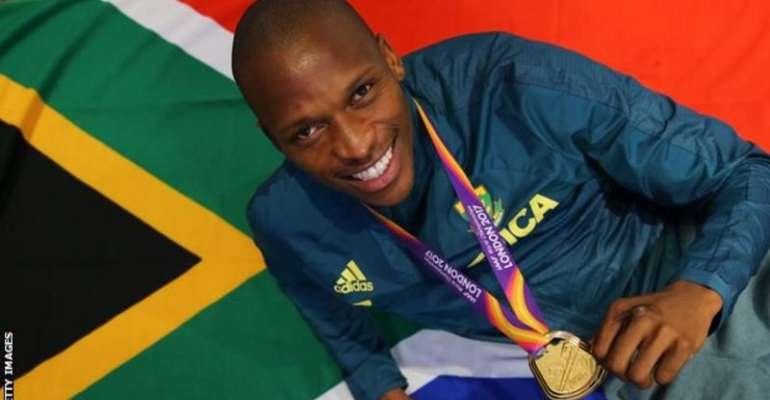After claiming Olympic silver at Rio 2016, Luvo Manyonga won gold at the 2017 World Championships in London