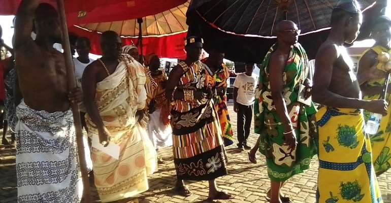 Some of the chiefs entering the durbar grounds