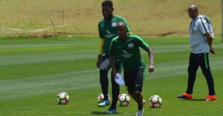 2021 AFCON Qualifiers: South Africa Hold Final Training In Johannesburg [VIDEO+PHOTOS]