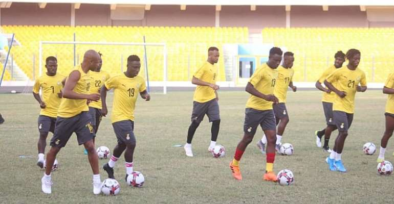 2021 AFCON Qualifiers: Black Stars Train In Accra Ahead Of Bafana Bafana Meeting