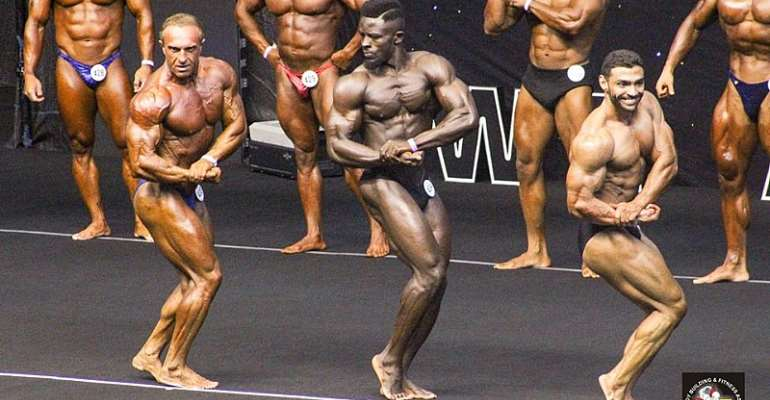 Laudable Performance By The Black Muscles Of Ghana At 2019 IFBB Championship