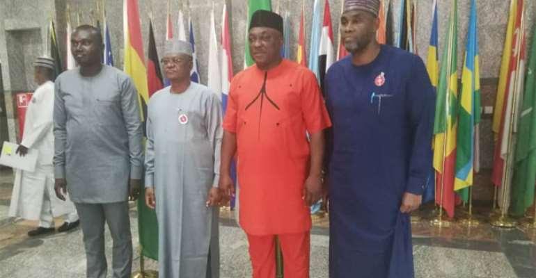 Ghana's deputy ministers with Nigeria's d el egation