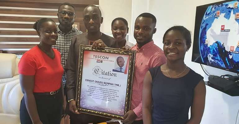 TESCON Honours Owusu Bempah For Youth Empowerment