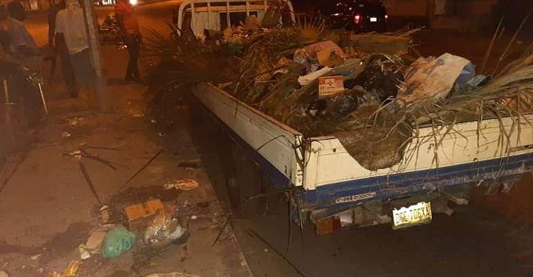 RIWAMA Sole Administrator, Bro. Felix Obuah Arrests Sanitation Defaulters Along NTA Road