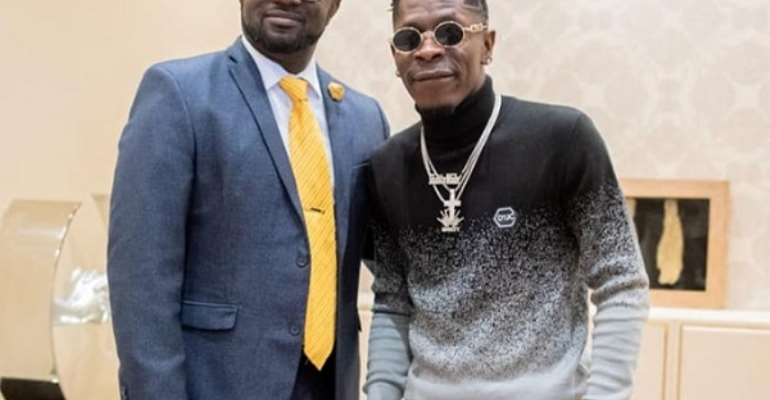 GFA Boss Kurt Okraku Meets Shatta Wale [PHOTOS]