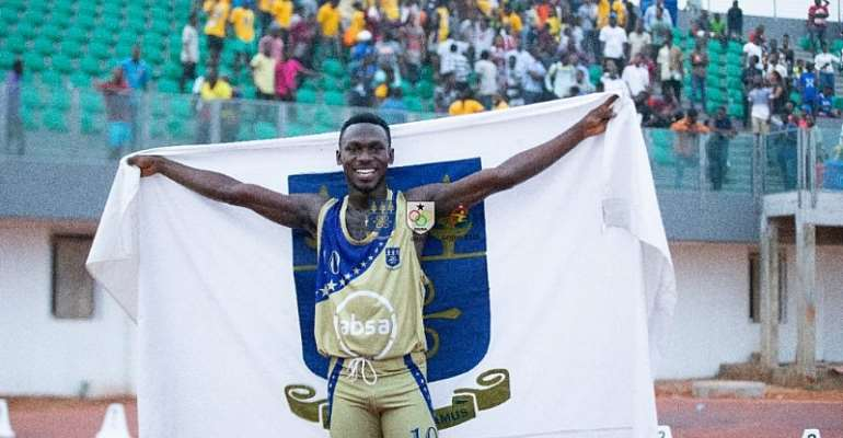 African Games 4 x 100m Gold Medalist Ben Azamati Wins 100m Gold At GUSA Games