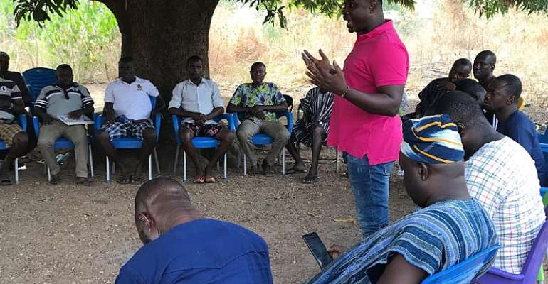 Oti Regional NPP Chairman Visits Krachi West With His Entourage