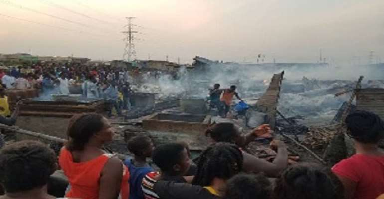Fire renders many homeless at Tema