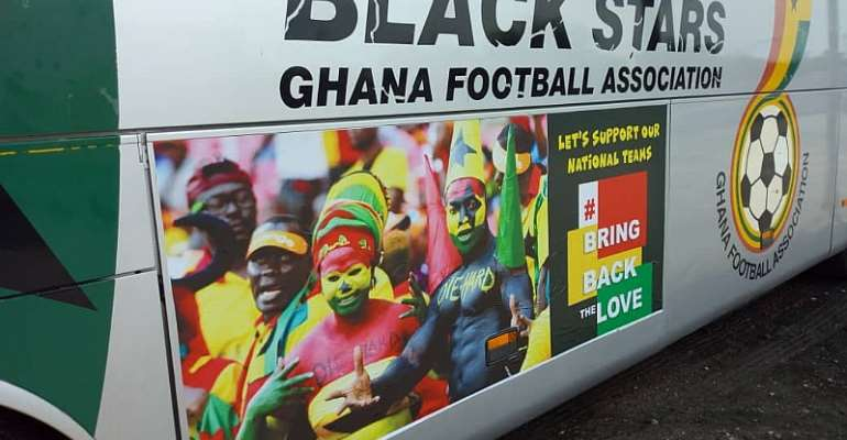 GFA Rebrand Black Stars Bus To #BringBackTheLove [PHOTOS]