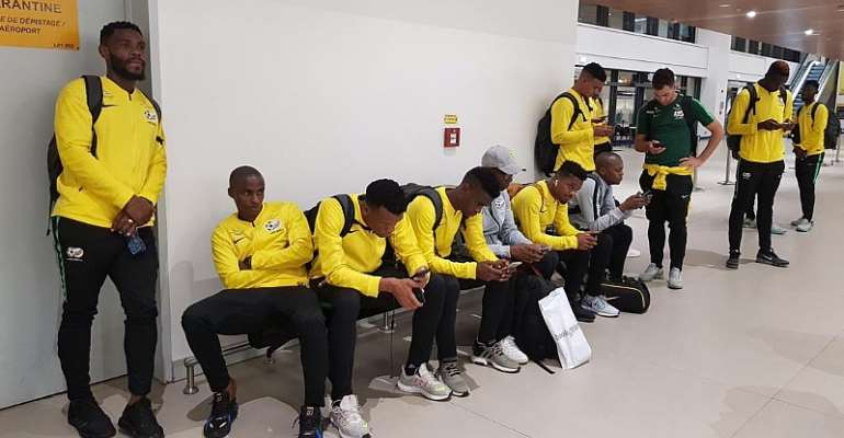 2021 AFCON Qualifiers: South Africa Arrives In Ghana For Black Stars Clash [PHOTOS]