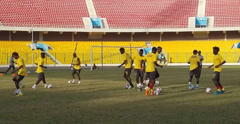 Watch Black Stars Training Session At Accra Sports Stadium Ahead Of South Africa Clash [VIDEO]