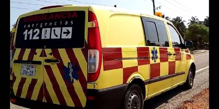 Freddie Blay Donates Ambulance To Eikwe St. Martin de Porres Hospital