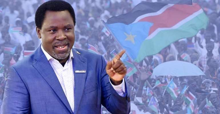 TB Joshua To Hold Prayers At South Sudan Presidency Today