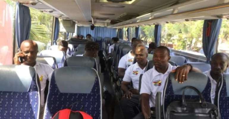 2021 AFCON Qualifiers: Black Stars Depart Accra For Cape Coast Ahead Of South Africa Clash [PHOTOS]