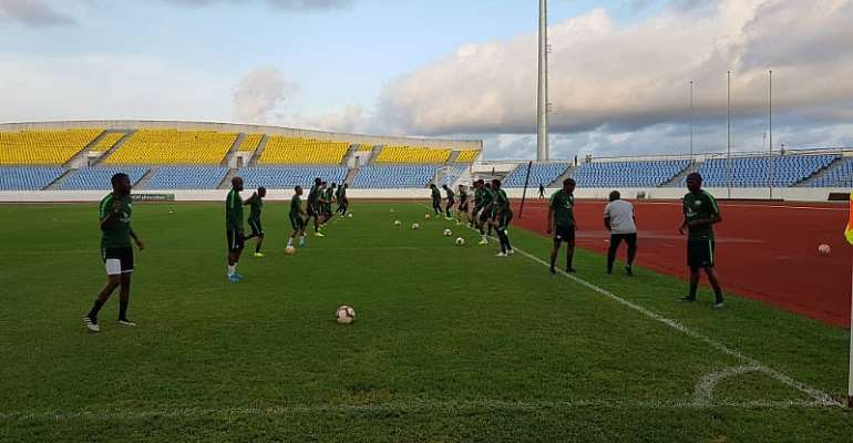 PICTURES: South Africa Train At Cape Coast Stadium Ahead Of Ghana Meeting
