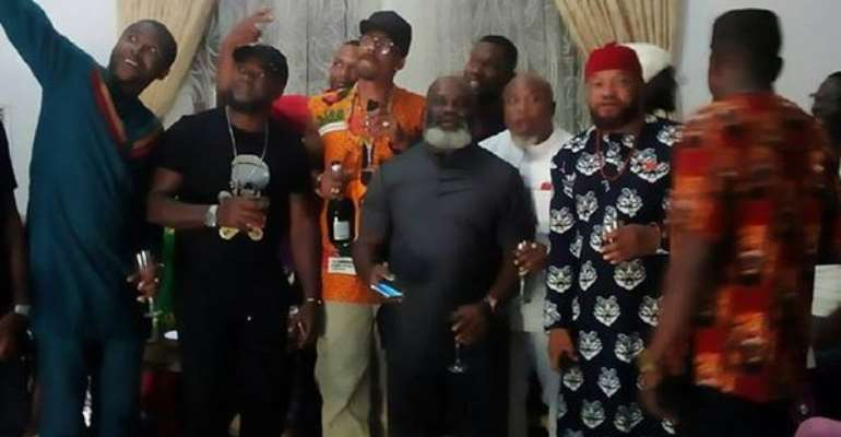 Nollywood Stars Visits Oil Magnet Dr Ifeanyi Ubah