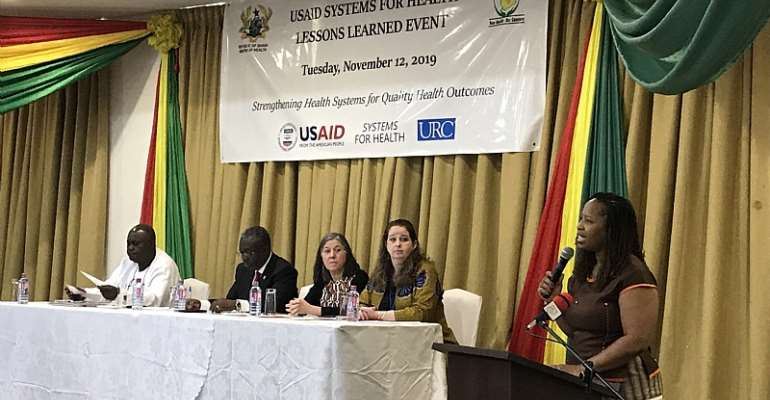 USAID Health Office Director, Ms. Janean Davis, delivering her remarks