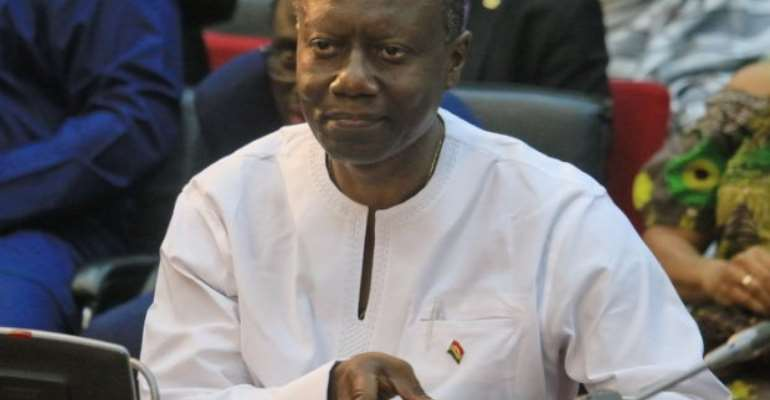 Finance Minister Ken Ofori Atta in Parliament