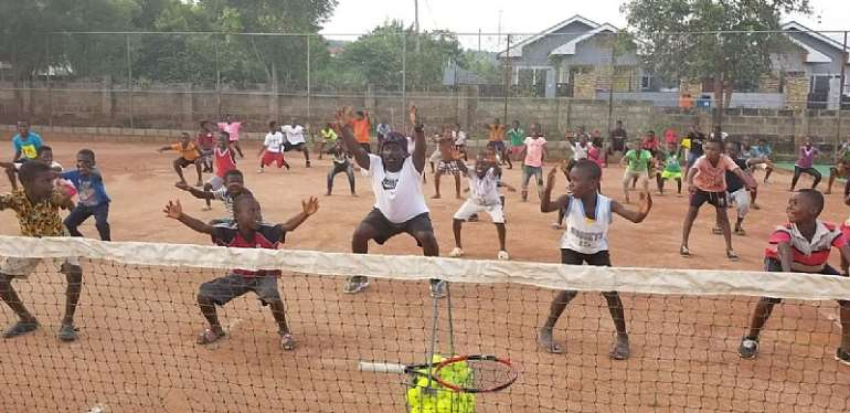 Donkor Tennis And Educational Foundation Holds Tennis Clinic At Ayi Mensah