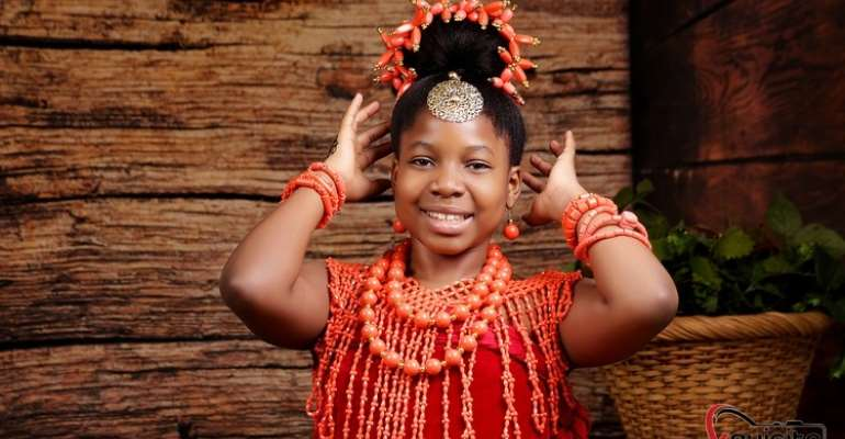 10 years old Michelle Olamide Oduoye has emerged Winner of the little most beautiful model in Africa 2020