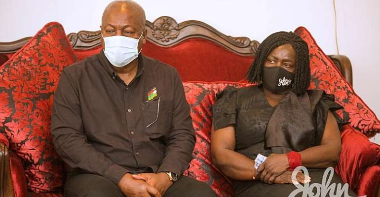 PHOTOS: Mahama, NDC Visit Family Of Rawlings