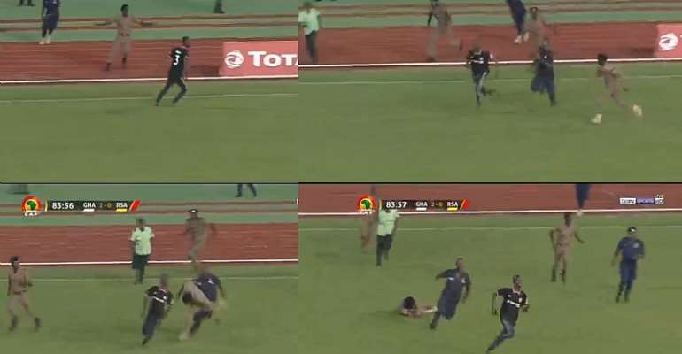 2021 AFCON Qualifiers: Pitch Invader In Ghana Win Over South Africa [VIDEO]